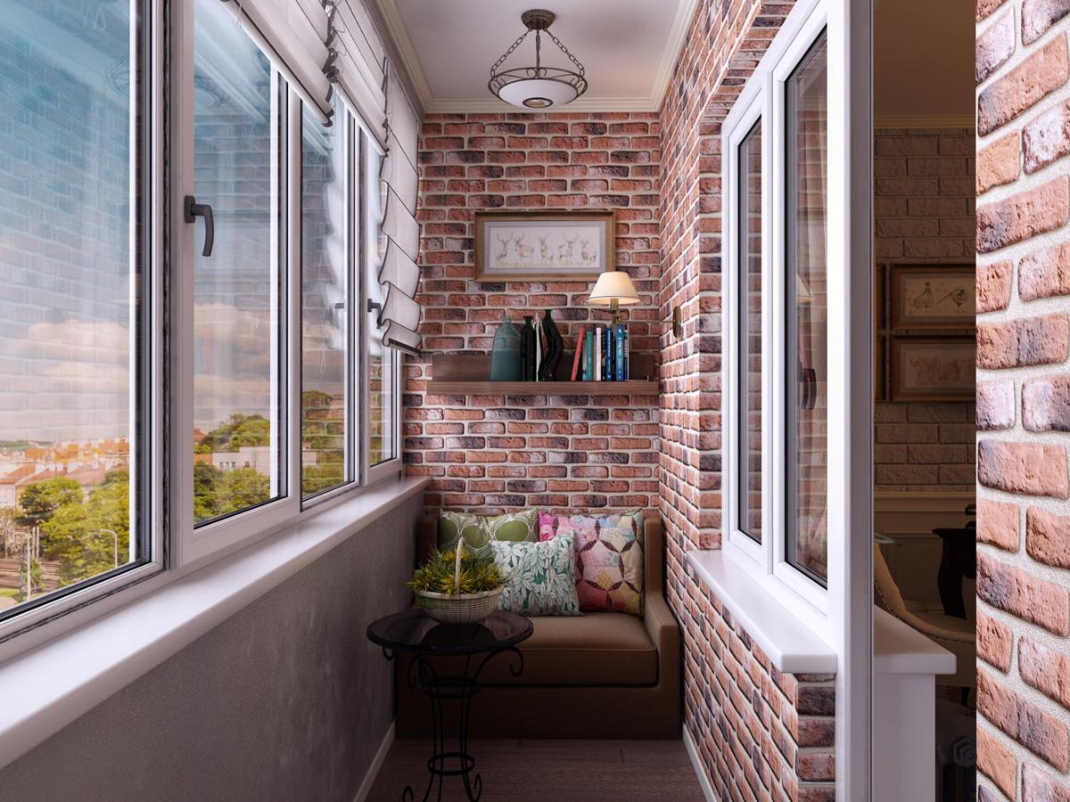 угловые балконы дизайн фото вариант